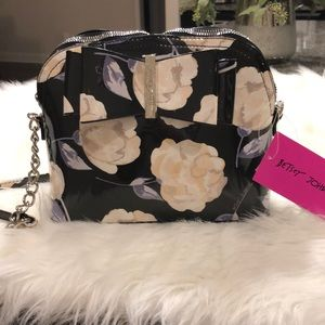 Betsey Johnson patent Floral Crossbody Bag